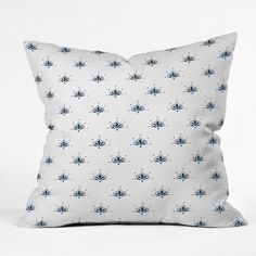 Social Proper Bla Blomst Throw Pillow | DENY Designs Home Accessories