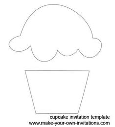 cupcake stencil with one candle - Google Search