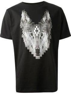 Men - Marcelo Burlon County Of Milan Wolf Print T-Shirt - SMETS