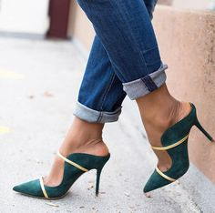 [£ Women's PU Stiletto Heel Pumps Slippers With Buckle shoes - VeryVoga Heel Pumps, Stilettos, Stiletto Heels, Pointed Toe Pumps, Cute Shoes, Me Too Shoes, Unique Shoes, Frauen In High Heels, Zapatos Shoes