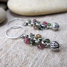 Hey, I found this really awesome Etsy listing at https://www.etsy.com/listing/208089349/silver-tourmaline-spiral-earrings