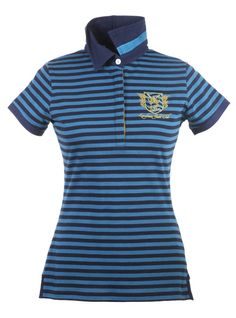 be43ab367d2616 Lansdown Country Clothing Yacht Club Polo Shirt in Teal and Navy This  beautiful polo shirt from