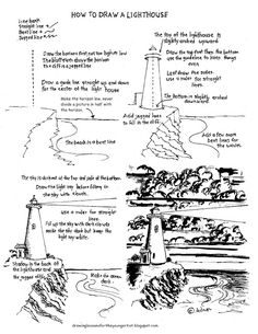 How to Draw Worksheets for The Young Artist: How to Draw a Lighthouse,