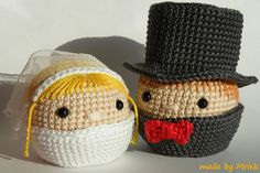Amigurumi wedding couple