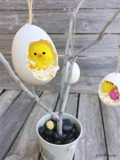 Hatched Egg Easter Tree Ornament