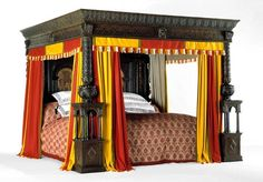 The Great Bed of Ware, circa 1590, in the V Museum, London