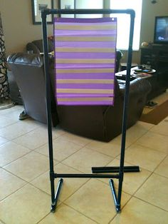 Pencils, Glue, & Tying Shoes - PVC pipe chart stands