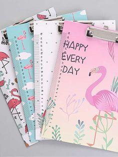 0bb4b6400a Random Flamingo File Clipboard 1pcFor Women-romwe Stationery Items, Cute  Stationery, Stationary,