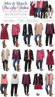Travel clothes women plus size capsule wardrobe 60 Ideas - Mode - Pink Fashion, Curvy Fashion, Womens Fashion, Fashion Fashion, Travel Fashion, Fashion Outfits, Cheap Fashion, Unique Fashion, Fashion Styles