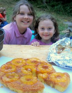Just in time for camping season - Dutch Oven Pineapple Upside-Down Cake... So easy. Soooo Good!