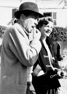 Humphrey Bogart and Loren Becall