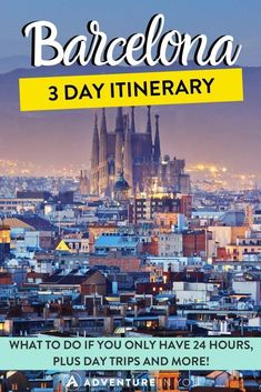 Wondering how to spend your time in Barcelona? Check out this Barcelona itinerary for what to see in 24 hours, 3 days, and more including day trips! 3 Days Trip, One Day Trip, Day Trips, Barcelona Spain Travel, Visit Barcelona, Unique Vacations, Adventures Abroad, City Break, Best Cities