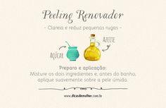 7 receitas de peeling caseiro que deixarão sua pele renovada