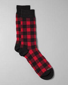 Women's Buffalo-check Socks | Eddie Bauer $13