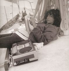 actress, director, and screenwriter Rachel Ward off the coast of Newport R.I.