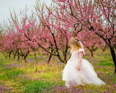 Peach Tree Princess photograph Princess in peach by fairyography