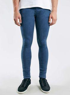 Blue Super Spray On Skinny Jeans
