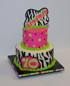 Zebra Birthday Cake by cjmjcrlm (Rebecca), via Flickr