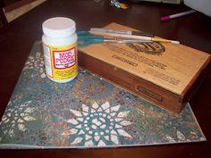 scrapbook paper altered cigar box tutorial
