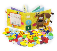 Quiet Book, busy book, educational toy, eco friendly, children books, activity toy, soft book, developmental toys, toddler toys, baby toys, children toys, personalized toy, learning toy Children are constantly looking, listening, and touching things in their surroundings. They love colors,