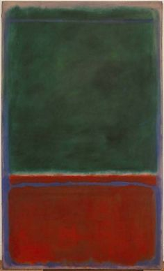 Mark Rothko - Green and Maroon, (1953)