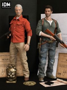 Uncharted 2 Among Thieves Nathan Drake Custom Made 1/6 Scale Action Figure