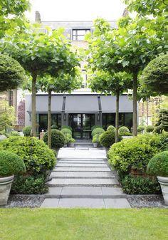Contemporary Formal garden design. Pinned to Garden Design by BASK Design.