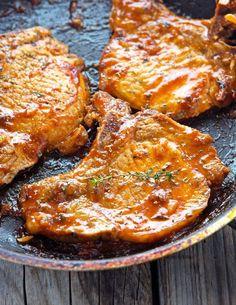 Paleo Honey Garlic Glazed Pork Chops Recipe plus 19 more Paleo pork chop recipes