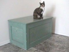 solid wood kitty box cover - lovethatcat.com