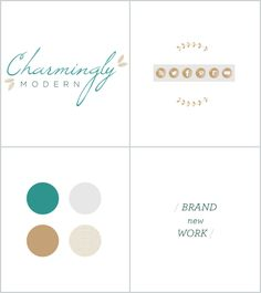 Branding + blog design for charminglymodern.com