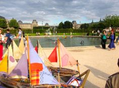 Paris-- boating pond in the Tulleries