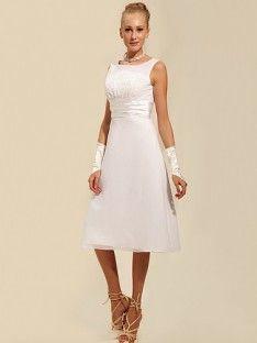 Modest Tea Length Short Wedding Dress