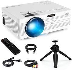 Mini Projector,Merisny 2400 Lumens Video Projector Portable Newest) Projector Stand, Best Projector, Movie Projector, Portable Projector, Projectors For Sale, Home Theater Projectors, Usb, Ecran Projection, Home Theaters