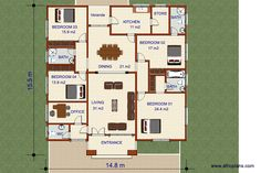 112E - Africplans Westerns, Office Entrance, Simple House Plans, Electrical Installation, Septic Tank, Roof Plan, Cool Suits, Facade, Architecture