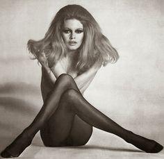 Vintage Style Icon: Brigitte Bardot, the famous pose, image.