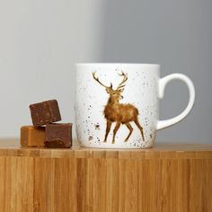 Wrendale stag mug bough these love them
