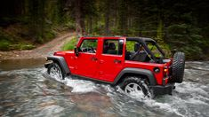 There is a reason it's called an icon. Jeep® Wrangler Unlimited Rubicon in Flame Red.