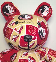 Florida State Seminoles-Bear by AuntShellDesigns on Etsy