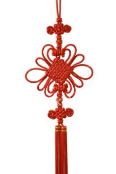 The red Chinese knot is hung is home and symbolizes luck, harmony, marriage, and many other things. The color red in China is more of a sign of happiness, it is used for weddings, good luck, and many things that are all around happy.