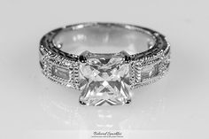 Halle 2.5 Carat Princess Cut with Baguette by BelovedSparkles