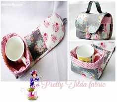 Red broly mug bag - free pattern | To be honest, mug bags confuse me. Is there a national mug shortage? I suppose if you had a rather large garden with a tea house right at the bottom you would need a caddy for your tea mug.