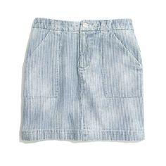 railroad stripe denim skirt