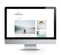 I love this blog design for Flourish, the clean minimalistic look is something that we definitely kept in mind when setting up our own blog.   The focus on images and eye-catching header are really key aspects of the blogs design.