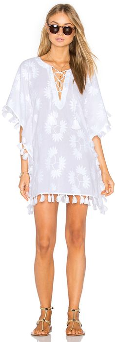 Shop for Seafolly Crochet Trim Caftan in White at REVOLVE. Swimwear Cover Ups, Swimsuit Cover Ups, Cute Summer Dresses, Beach Dresses, Kaftan, Bikini Outfits, Beach Attire, Seafolly, Revolve Clothing