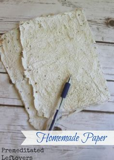 How to Make Homemade Paper - An easy step by step tutorial showing you how to make paper using scrap paper, junk mail, or tissue paper.