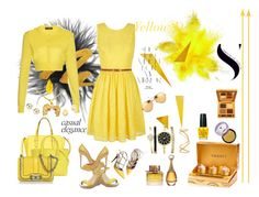 """Yellow Sunshine"" by sophiajamdown on Polyvore featuring Urban Decay, Dolce&Gabbana, Yumi, Kate Spade, Intelligent Design, OPI, Valentino, Maison Margiela, Victoria Beckham and Christian Louboutin"