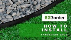 How To Install EZBorder Landscape Edge for mulch separation | Garden ideas Landscape Edging, Garden Edging, Garden Borders, Garden Ideas, Eco Friendly, Outdoor Decor, Plants, Landscaping Ideas, Plant