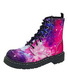 Loving this Galaxy Print Combat Boot on #zulily! #zulilyfinds