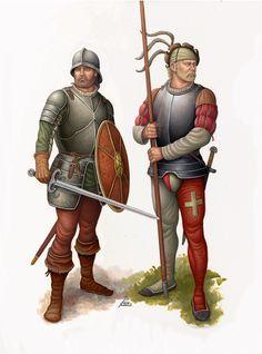 Spanish Swordsman and Swiss Pikeman 1503