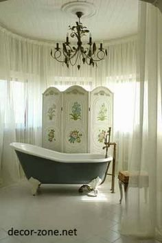 bathroom decorating ideas for small bathrooms, bathroom chandeliers in country style